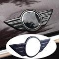 Kohlefaser Auto Abzeichen Logo Front Motorhaube Hinten Trunk Emblem für Mini Cooper F54 F55 F56 F60 R60 R61 R55 R56 Countryman