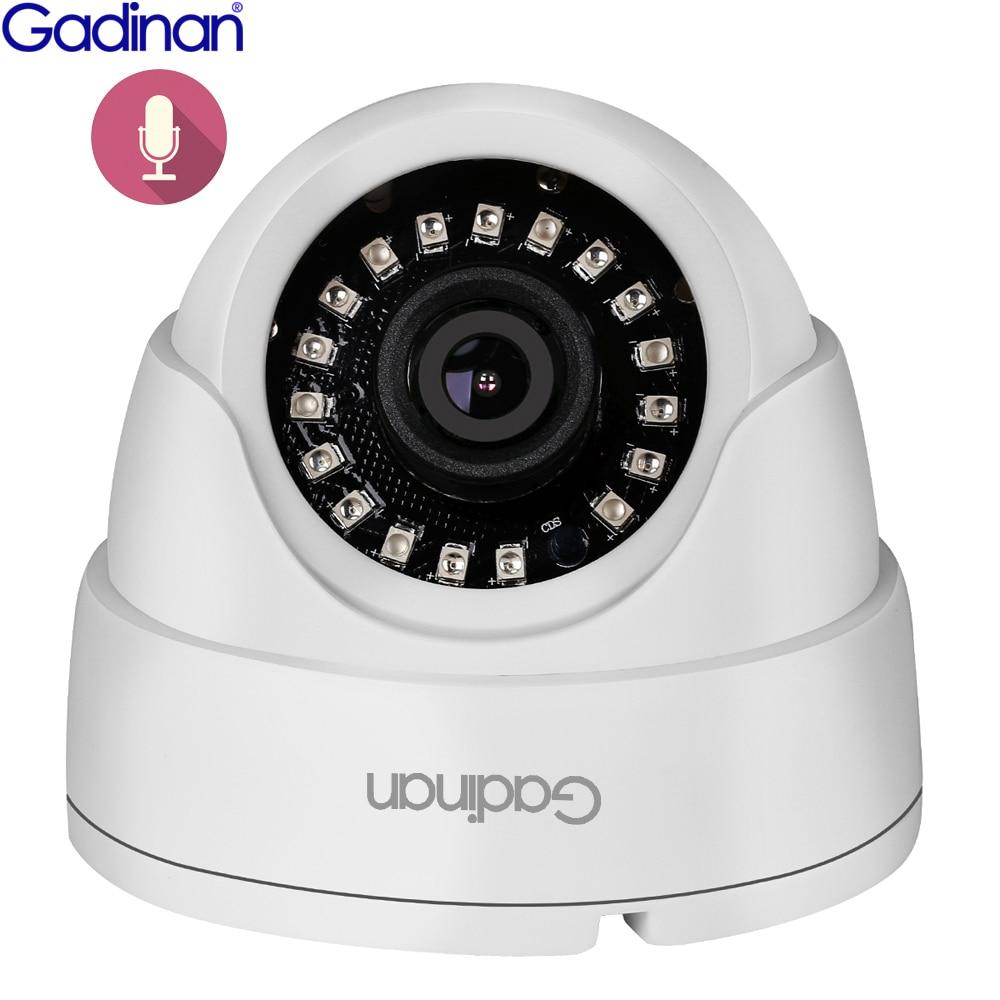 Gadinan IP Dome Camera 1080P H.265 Indoor 2.8mm Wide Angle Infrared Night Vision IR Audio Surveillanc XM530AI DSP DC12V /48V PoE
