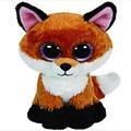 Ty Beanie Боос Оригинальные Большие Глаза Плюшевые Игрушки Каваи Кукла Детский День Рождения Foxy Мягкие игрушки Детские 15 см Рыжий Игрушки