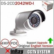 ХИК Обновляемыми Сетевая Камера 4MP DS-2CD2042WD-I Full HD IP Камера Высокого Resoultion WDR POE Пуля Камеры ВИДЕОНАБЛЮДЕНИЯ 2 шт./лот