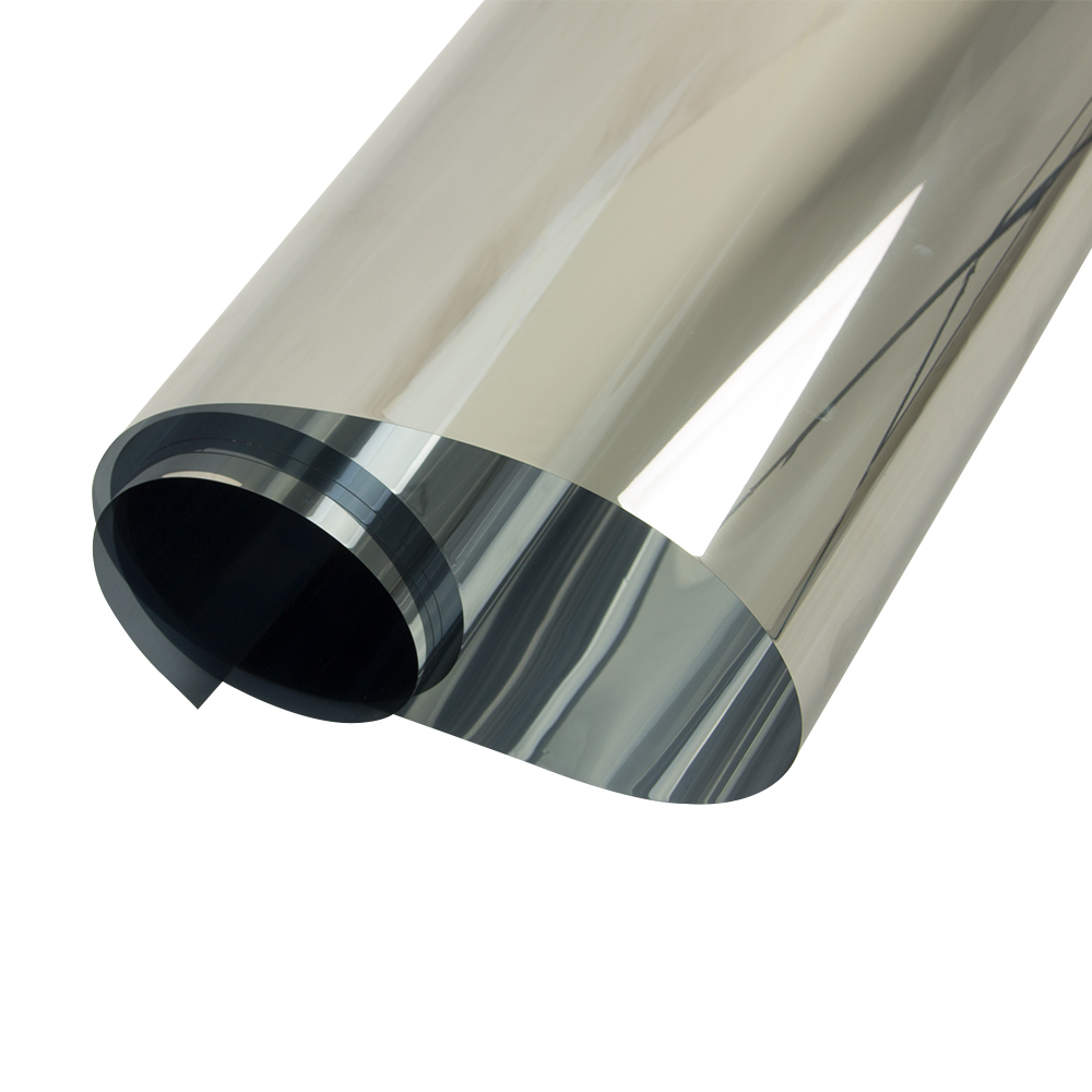 Width 70cm Wholesale Silver silver Mirrored Window Film One Way Reflective Glass Sticker Home Decor 10m