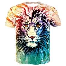 Brand 3D T-shirt Animal Wolf Lion Shirt Camiseta 3d T Men Funny Shirts Mens Clothing Casual Fitness Tees Tops tshirts