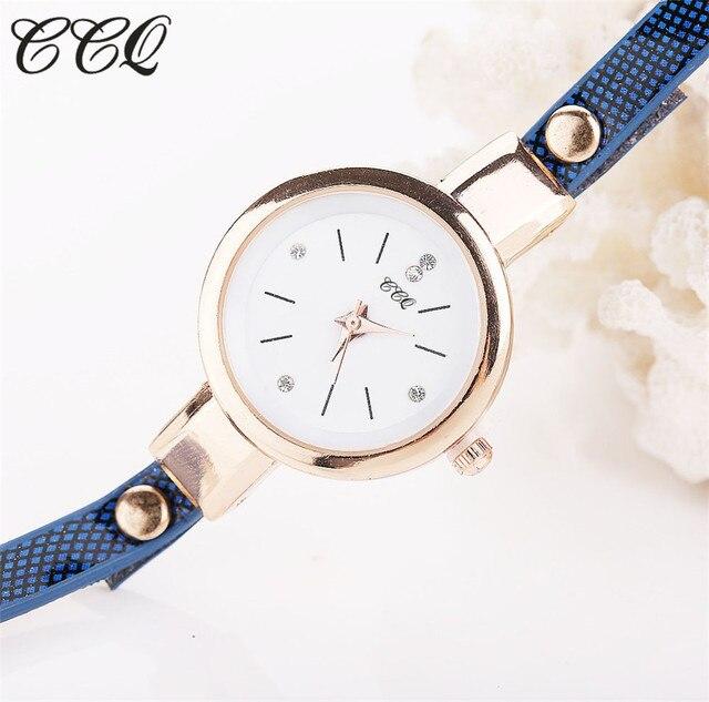 CCQ Hot Women Long Leather Bracelet Watches Gold Fashion Quartz Watch Casual Wrist Watch Relojes Mujer Relogio Feminino 1657 5