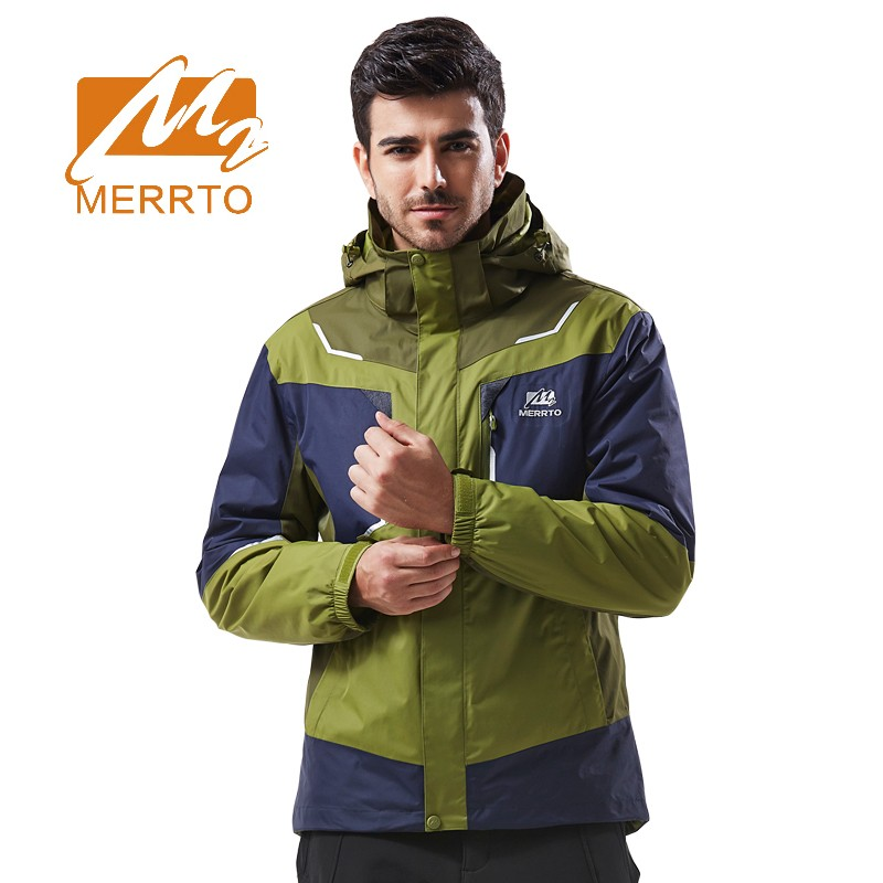 2017 Merrto Mens Hiking Jackets Windproof Waterproof Sports Jackets Breathable Outdoor Coats For Men Free Shipping MT19192 2017 merrto mens hiking boots waterproof breathable outdoor sports shoes color black khaki grey for men free shipping mt18638
