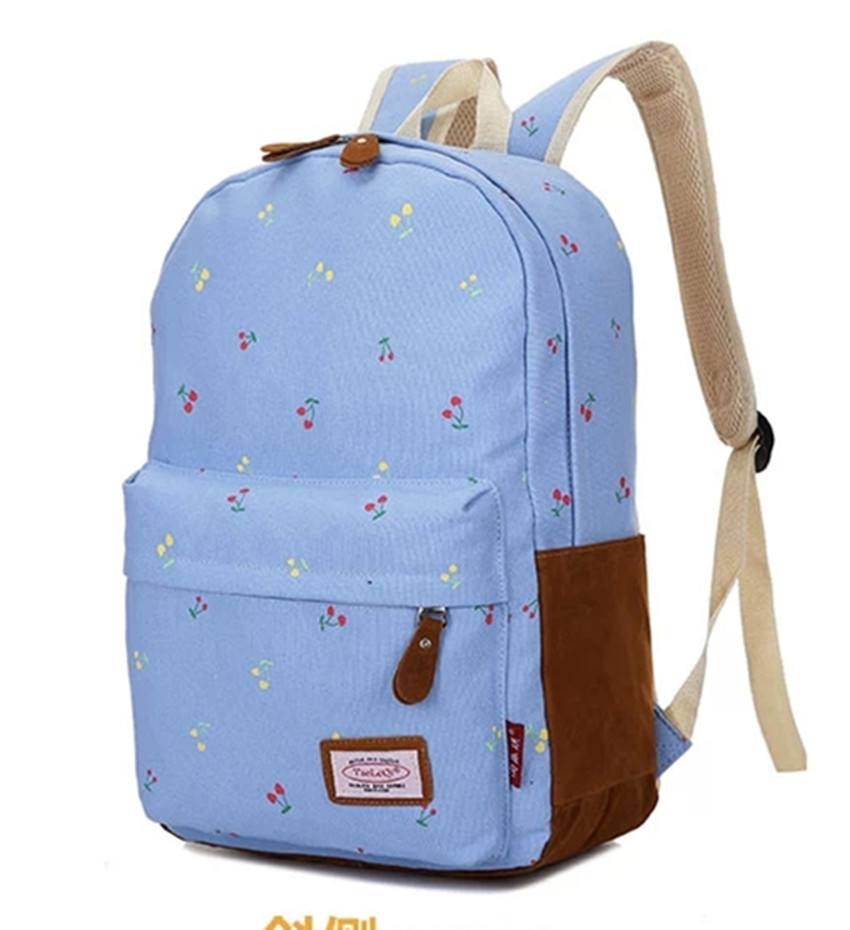 9 Color Leaper Causal Style Lightweight Canvas Cute Backpacks ...