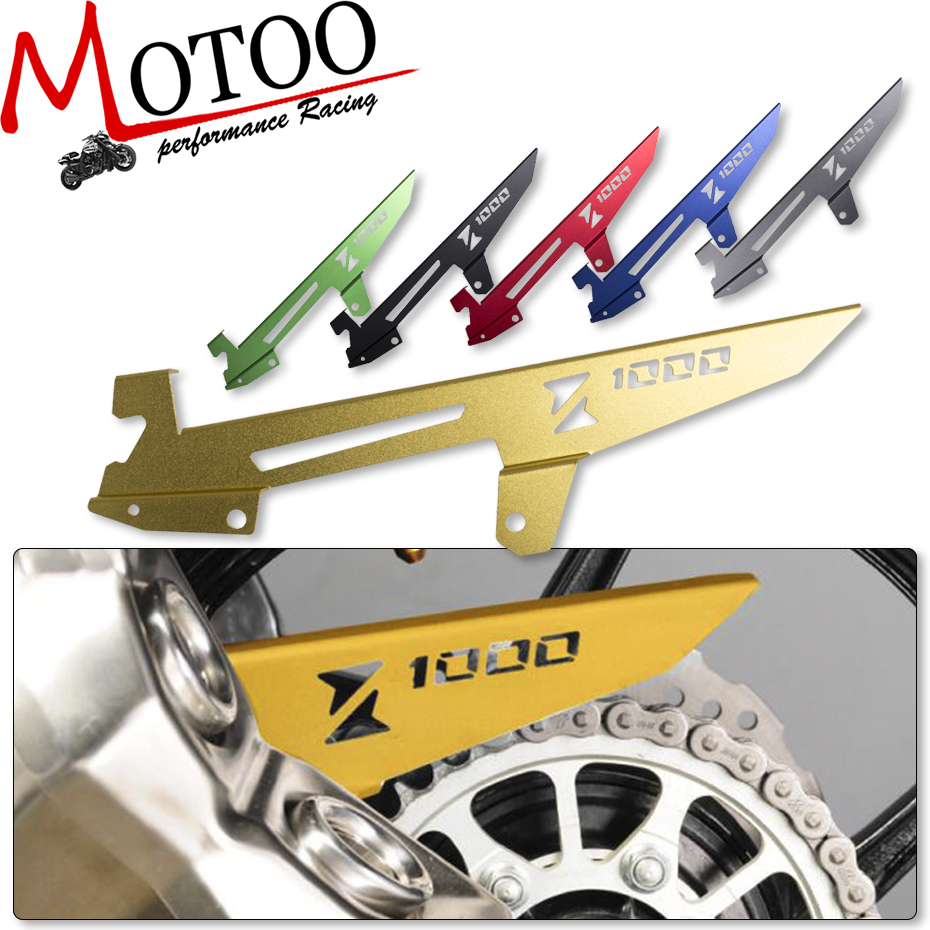 Motoo - For Kawasaki Z1000 2010-2016  Motorcycle CNC Aluminum Guard Cover Decoration  Chain Protector bjmoto cnc aluminum motorbike accessaries motorcycle engine guard cover pad for kawasaki z1000 r 2010 2011 2012