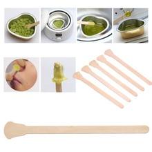 50 Pcs Wooden Waxing Wax Spatula Tongue Disposable Bamboo Sticks Hair R