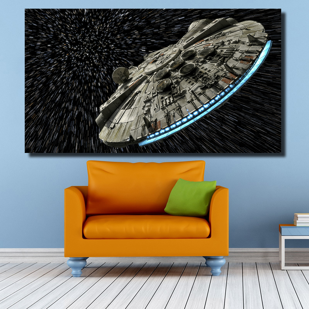 QKART Decorative Pictures Star Wars Oil Painting for Living Room Bedroom Canvas Prints Wall Decor