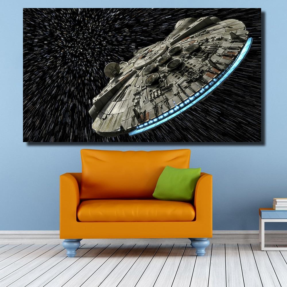 QKART Dekorative Bilder Star Wars Ölgemälde für Wohnzimmer ...