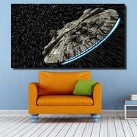 QKART Dekorative Bilder Star Wars Ölgemälde für Wohnzimmer Schlafzimmer Leinwand Druckt Wand-dekor