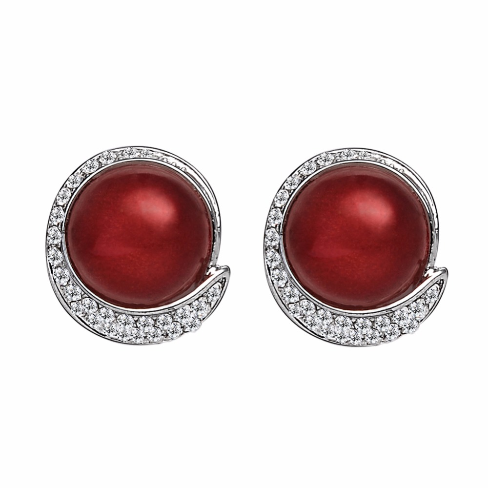 Evbea Red Clip On Earrings Antique Non Pierced Faux Pearls Studs For Women In From Jewelry Accessories Aliexpress Alibaba Group