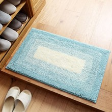 Simple Bath Mat Bathroom Plush Velvet Slip Mats Rug Non-slip Home Bed Room Decor Supplies