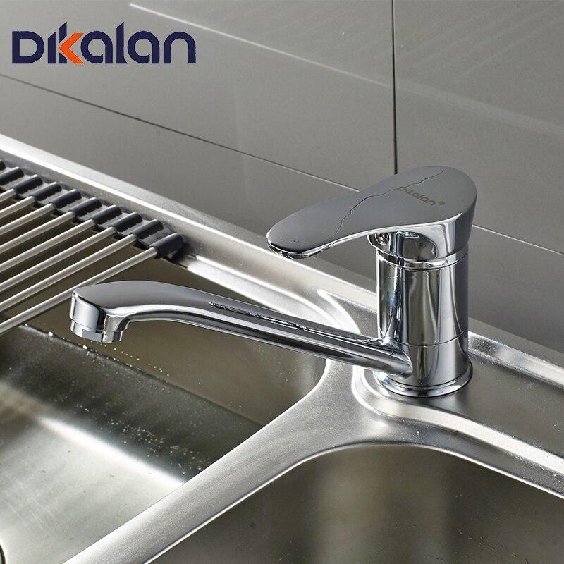 Dikalan en laiton Cuisine Robinet Mini Pont Monté Chrome 360 Degrés Rotation Eau Chaude et Froide Cuisine Robinet Mitigeur 4201