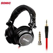 Somic auriculares de graves profundos para DJ, dispositivo hifi, con enchufe de 3,5mm, para música, ordenador, PC, teléfono y mp3, MM185
