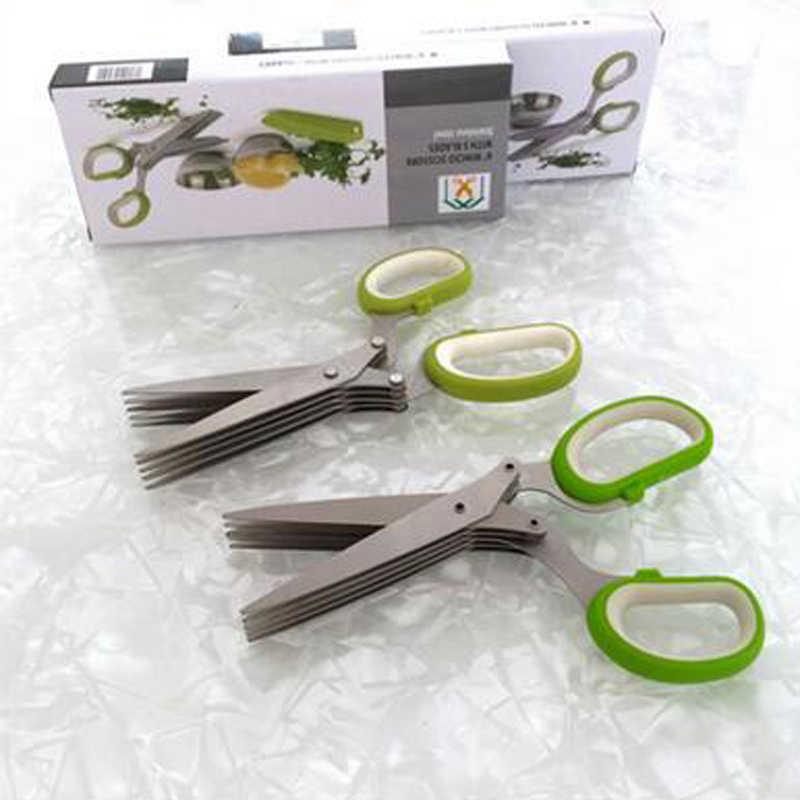 MOKILY Cucina Scolapasta Cucina prodotto Verde Maniglia di Nuovo Cinque Strati Forbici