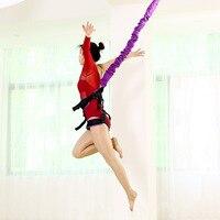 Банджи танец летать Подвески каната Aerial анти гравитация Йога шнур сопротивление группы комплект Тренировки Фитнес домашние тренажеры