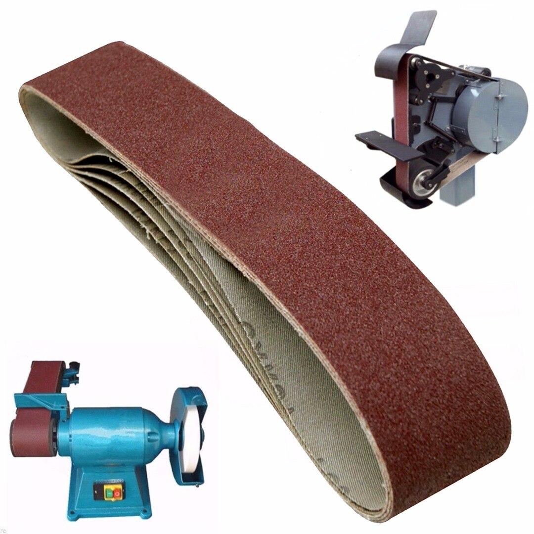 5 Pack New 686*50mm 80 Grit Sanding Belts Aluminium Oxide Sander Sanding Belts