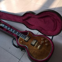 New Arrival G Custom Shop 1959 R9 Tiger Flame Les Supreme Electric Guitar Double Tiger Flame