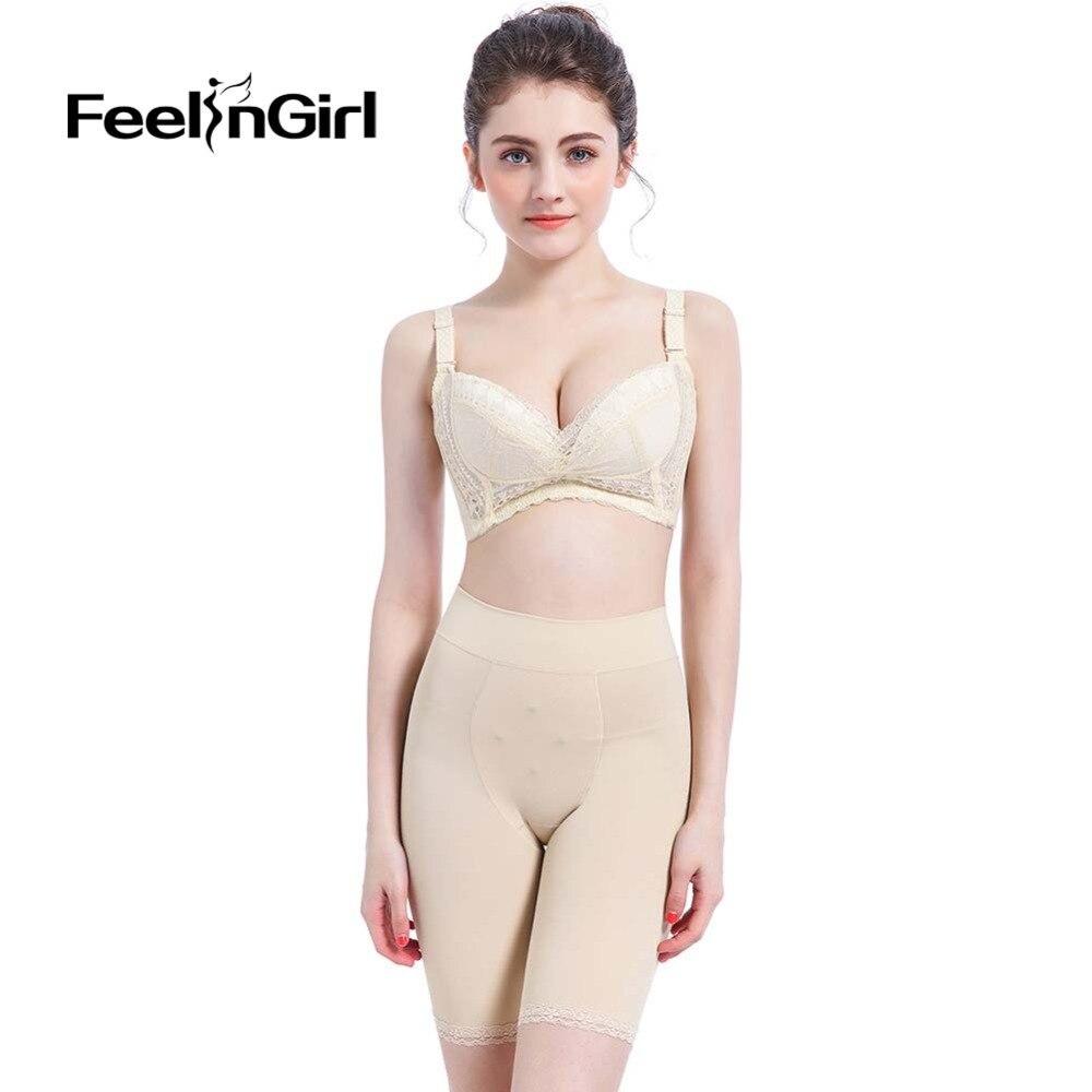 FeelinGirl High Waist Plus Size Ice Silk Control Panties Abdomen Underwear Postpartum Belly Panty Enhancer Shapewear Panties D