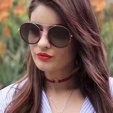 2019 Glasses Green red  Round Sunglasses Women Brand Designer Sun Female Optical Spectacle Eyeglasses