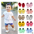 2016 new 30 colors Handmade Soft Bottom Fashion Tassels Baby Moccasin Newborn Babies Shoes PU leather Prewalkers Boots