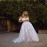 2018 Пляжные Свадебные платья Boho Свадебные платья Кружева Аппликации Свадебные Платья страна Невеста платье сад нарядное платье