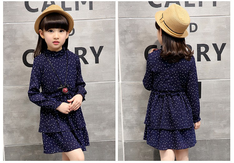 fb273db9c Children s Wear Autumn Wear Long Sleeve Dress 2017 New Girls College ...