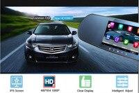 Neue 5 zoll Android Rückspiegel Auto GPS navigation rückspiegel Full HD 1080 P auto dvr Daul kamera video recorder fahrzeug gps