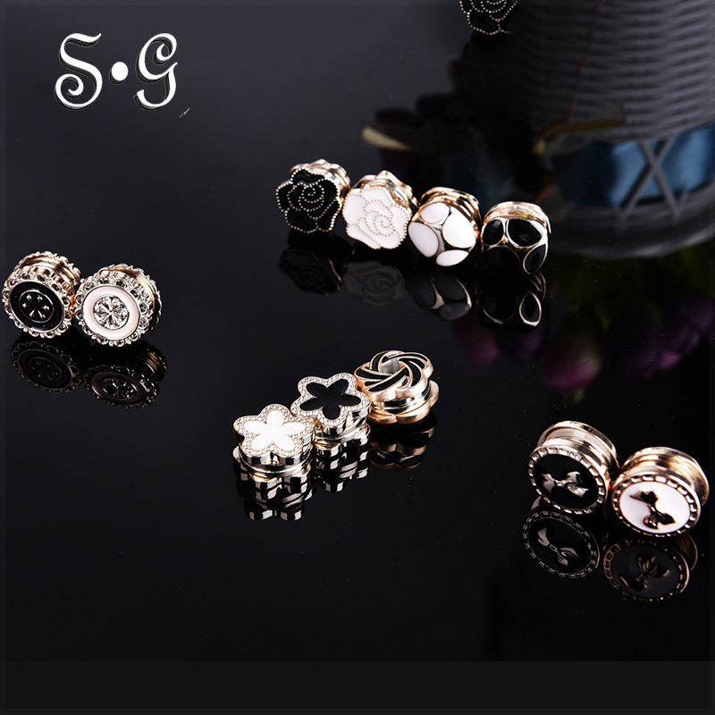 12pcs/dozen vintage flower Elegant magnet brooch Classic fix pin hijab accessories muslim scarf buckle Muslim Brooches 12pcs retro silver color black bohemia stone brooch scarf clips women hijab scarf buckle broches ring clips para as mulhere