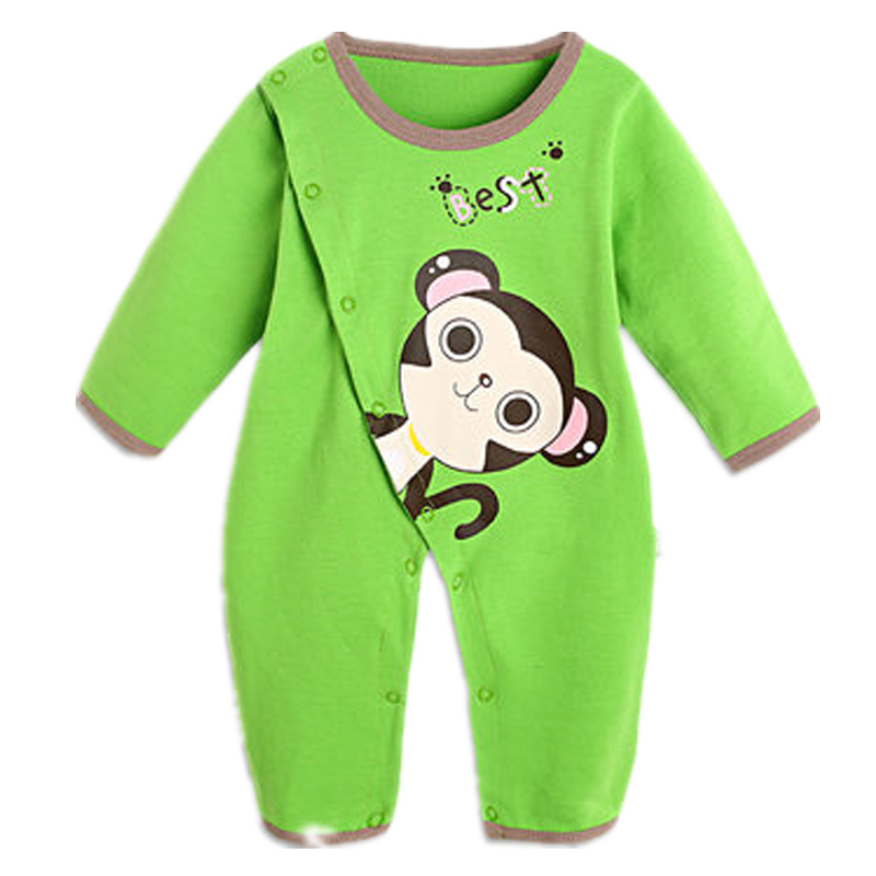 Newborn Baby Boy Rompers Overalls Long Sleeve Infant Jumpsuit Clothing Cotton Monkey Girl Children Pajamas Costumes Outwear baby rompers long sleeve baby boy girl clothing jumpsuits children autumn clothing set newborn baby clothes cotton baby rompers