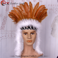 Indian Feather Headdress Hand Made Native American Costumes Feather Headdress Feather Headband