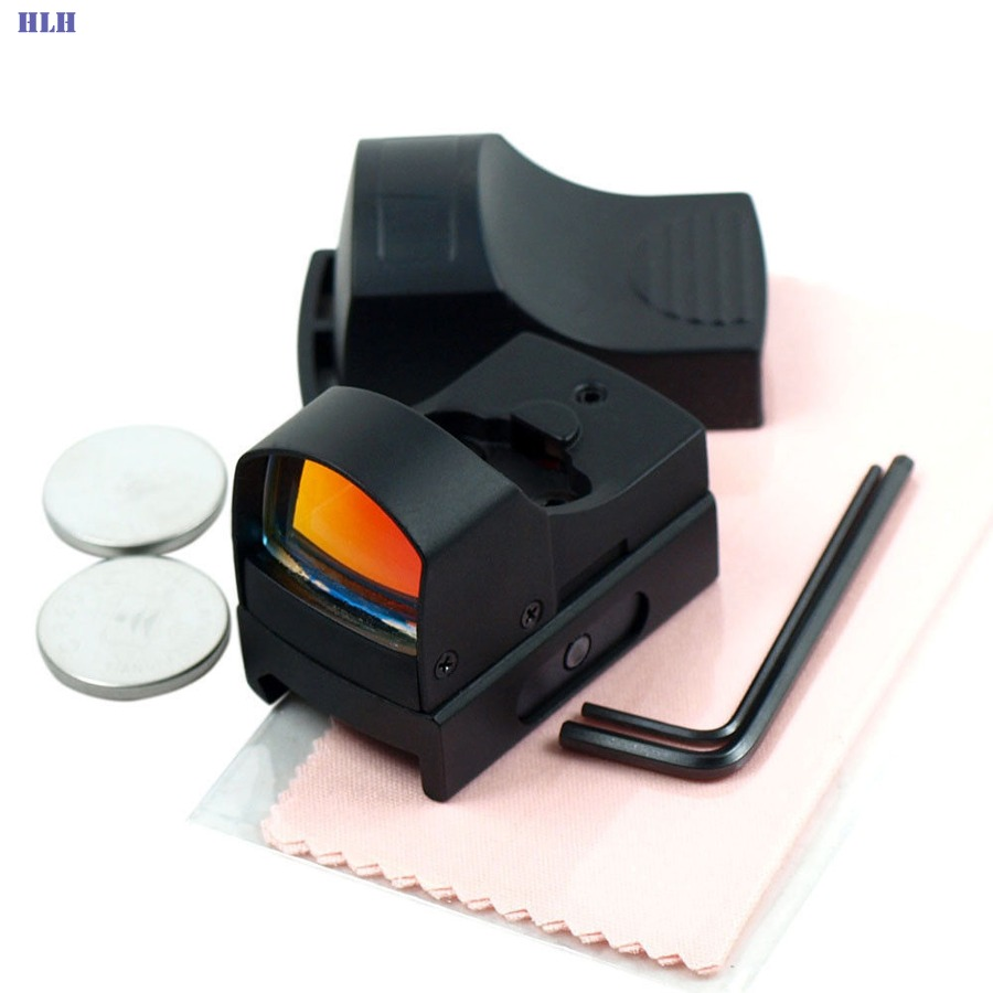 High Quality Optics Reflex Mini Red Dot Sight 3 MOA Tactical Hunting Red Dot II plus Reflex Sight Scope with ON/OFF Switch