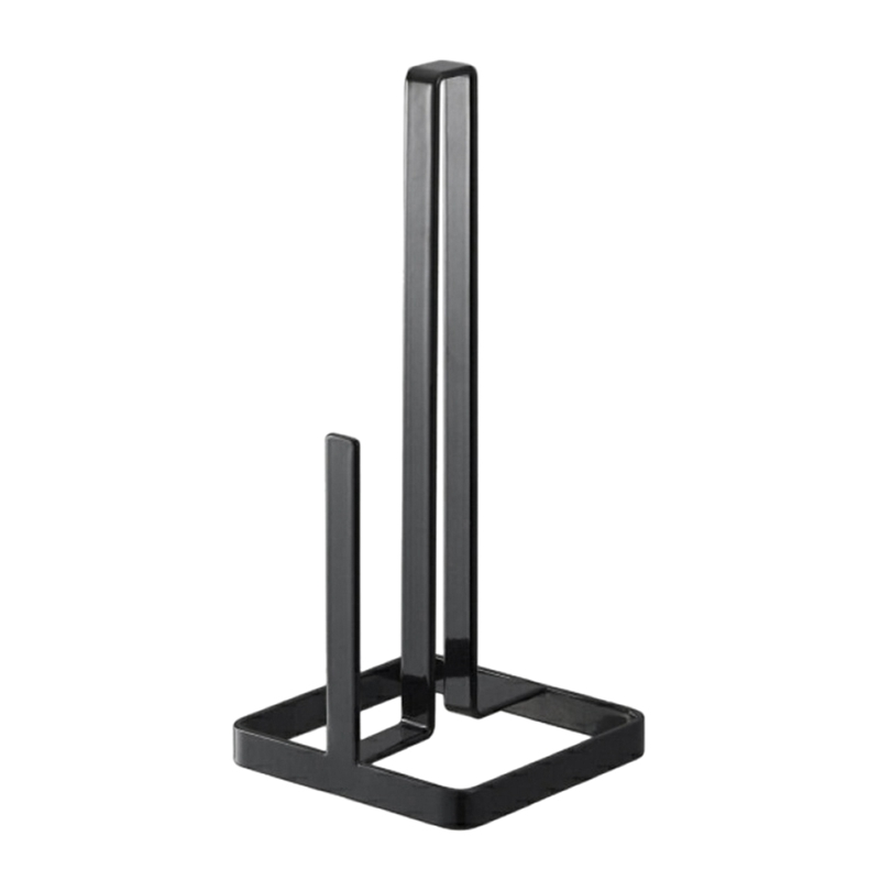 Durable Metal Iron Weighted Base Towel Pole Napkin Shelf Paper Roll Stand Desktop Sturdy Vertical Kitchen Accessories Convenie