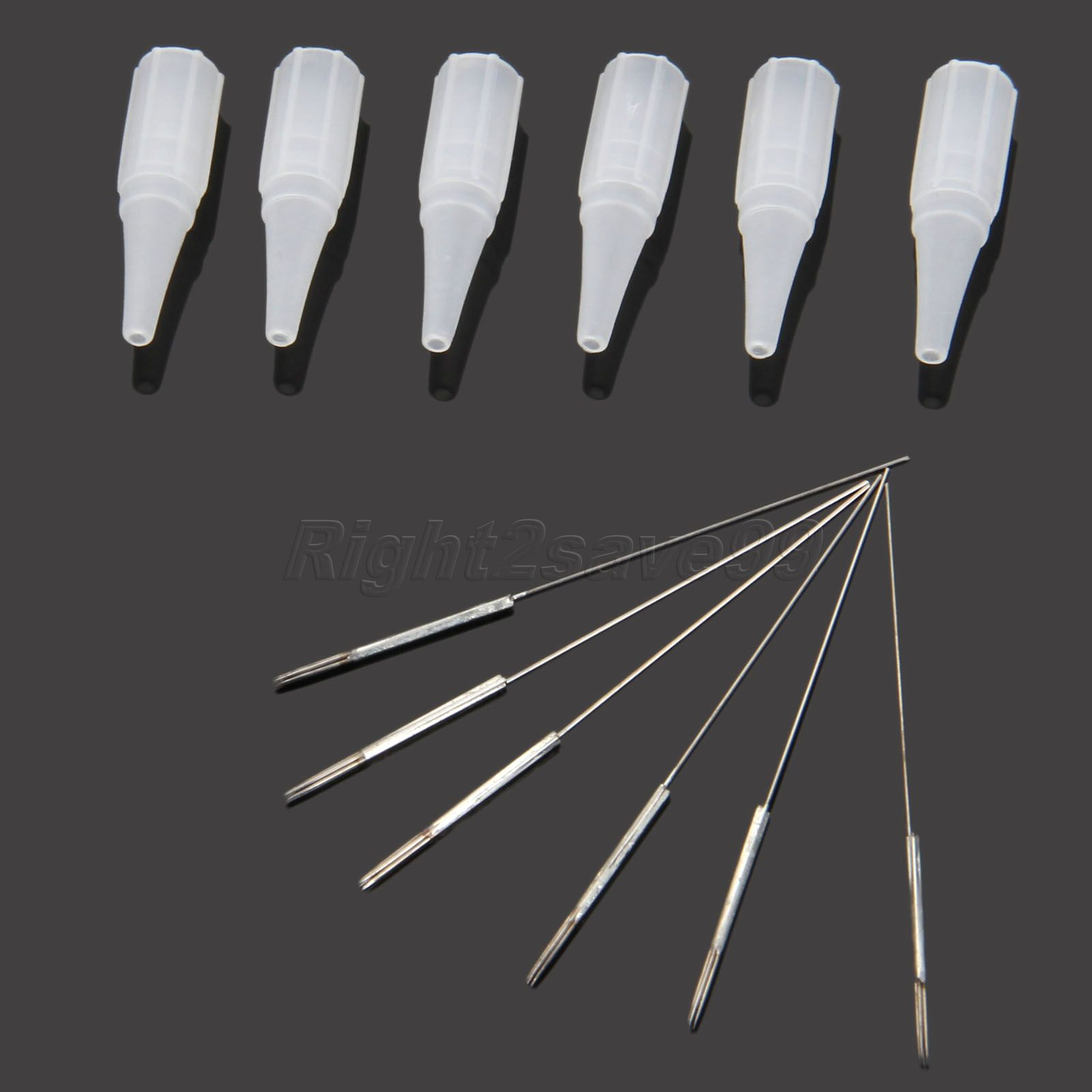 50Pcs 5R Tattoo Needles And 50pcs 5R Tips For Permanent For Makeup Machine Eyebwor Pins Eyeliner Round Pins+caps