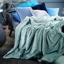 01ad270ce307ad Ciepłe miękkie koce polarowe dwuwarstwowe grube pluszowe rzut na Sofa łóżko  samolot pledy stałe narzuty tekstylia domowe 1 PC