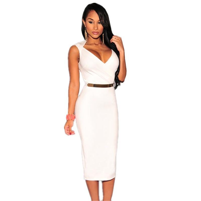 Bodycon Knee Length Midi Dress 1