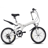 20inch Folding Mountain Bike 6 Variable Speed Bicycle Road Bike Male And Female Cycling Folding Bicycle