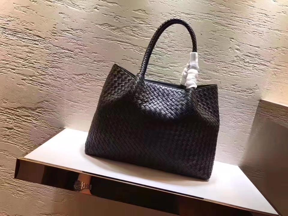 Women Handbag Genuine Leather Lambskin Soft Knitted Female Shoulder Carry Tote Shopping Purse Bag Set Luxury