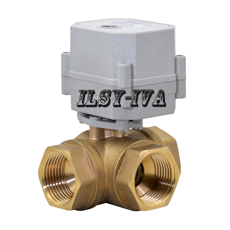 DN25 AC110V~230V Motorized Ball Valve,1 three way horizontal CR03/CR05 wires electric ball valve 1 2 dc24vbrass 3 way t port motorized valve electric ball valve 3 wires cr301 dn15 electric valve for solar heating
