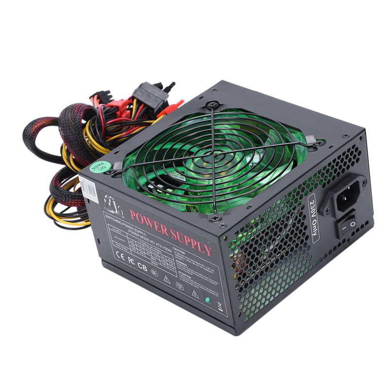 HOT-170-260V Max 500W Power Supply Psu 12Cm Pfc Silent Fan 24Pin 12V Pc Computer Sata Gaming Pc Power Supply For Intel For Amd