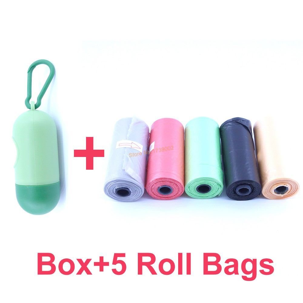 Portable Plastic Dispenser Box For Baby Diaper Waste Bag Removable Baby Strollers Organizer Storage Box With 5 Roll Garbage Bags