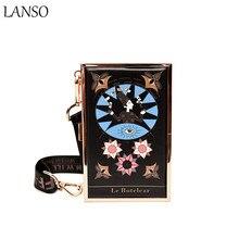 LANSO Vintage Tarot Konstellation Handtaschen Personalisierte Graffiti Freizeit Mini Tageskupplungen Frauen Abendtasche Tropfenverschiffen