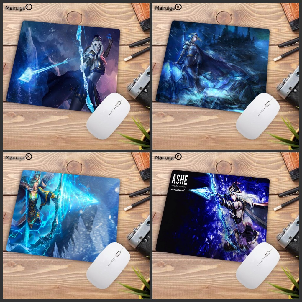 Mairuige Cool New LOL Ashe Mouse Pad Gamer Play Mats Keyboard Mat Desk Mat Computer Game Tablet Gaming Three Size Choose