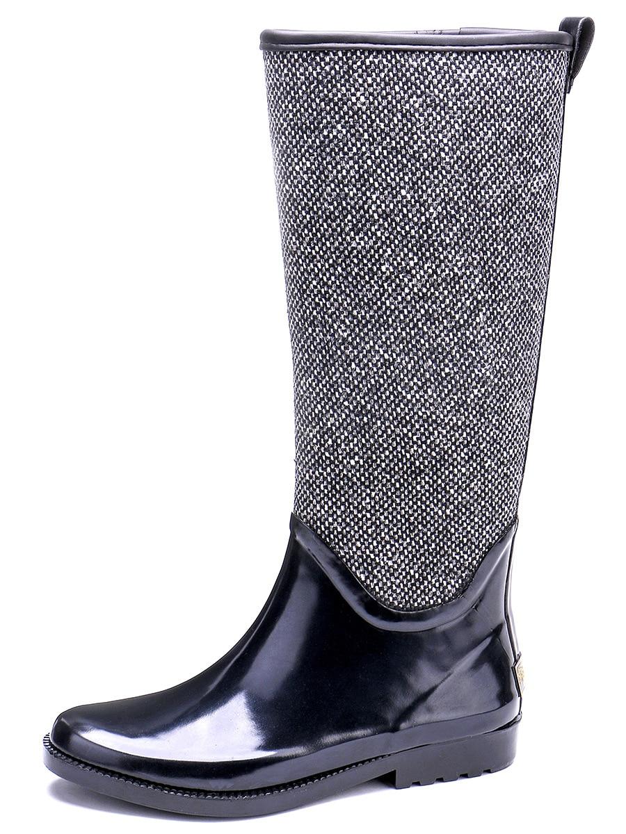 EXCARGO/женские резиновые сапоги; высокие водонепроницаемые сапоги; коллекция 2019 года; сезон весна осень; Новинка; качественные женские высокие сапоги; водонепроницаемая обувь; экологически чистые резиновые сапоги