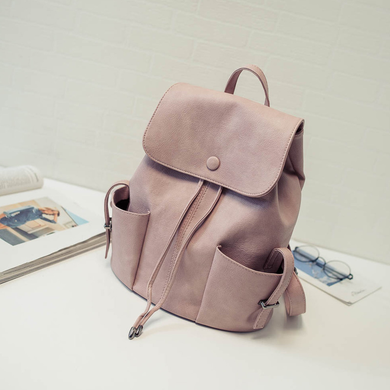 New Design Women Backpack PU Leather Shoulder School Bag Girl Female Causal Travel Bags New Style