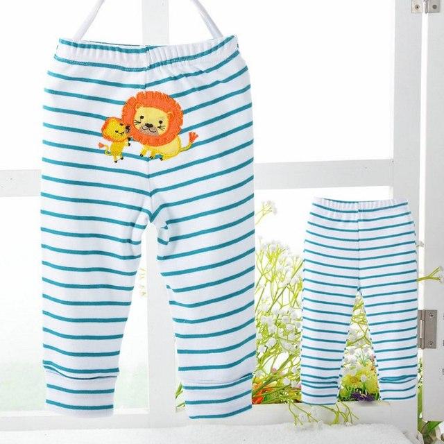 Calças PP 4 Peças/lote Bebê Calças Kid Desgaste Do Bebê calças Roupas de Algodão Colorido Dos Desenhos Animados Da Menina do Menino Crianças Infantis Trepadeiras P