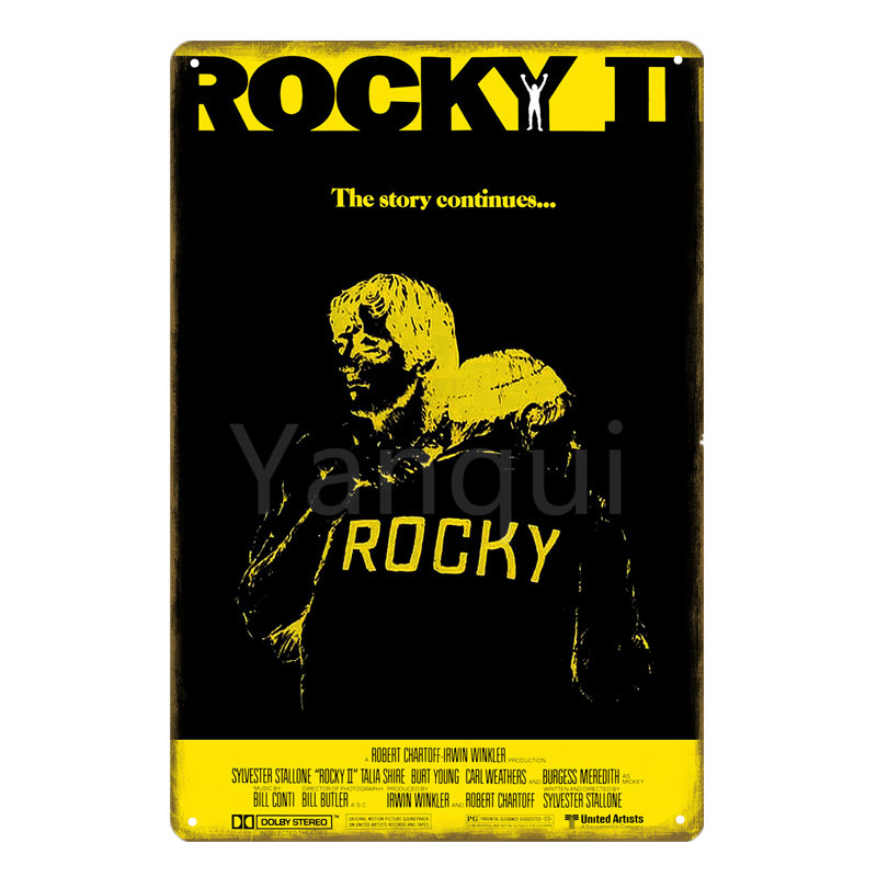 Rock Boxing Metal Plate Tin Sign Board Vintage Home Pub Decoration Decorative Sign Metal Poster 20x30cm 3837
