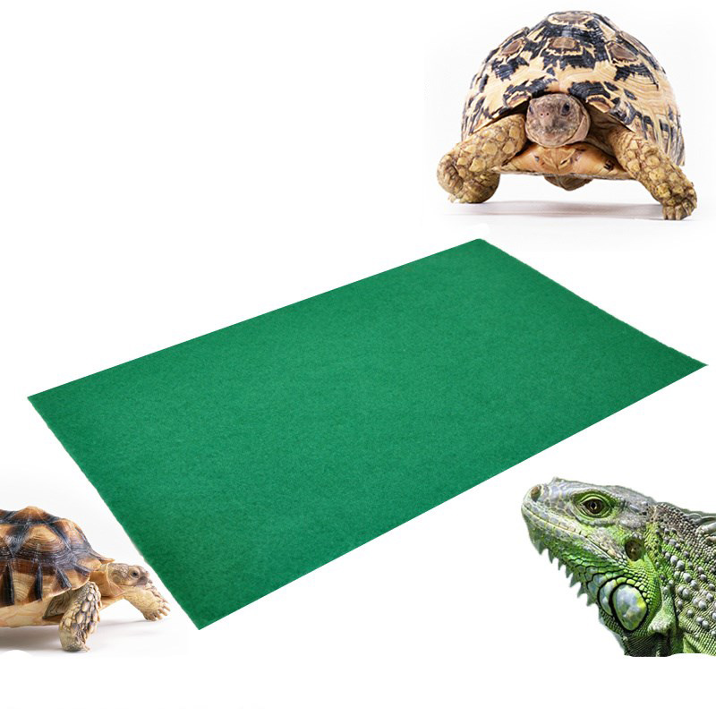 80x40cm Reptiles Carpet Liner Snakes Lizards Terrarium Large Soft Cage Floor Green Material Moisturizing Bottom Pad Home Bed