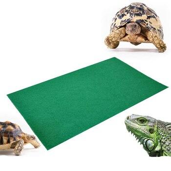 80x40cm Reptiles Carpet Liner Snakes Lizards  Terrarium Large Soft Cage Floor Green material moisturizing bottom pad 1