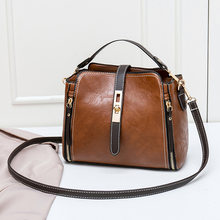 Leather Small Mini Bucket Bag Women Messenger Bags 2018 Fashion Designer Crossbody Bags Green Shoulder Bags Female Korean C810(China)